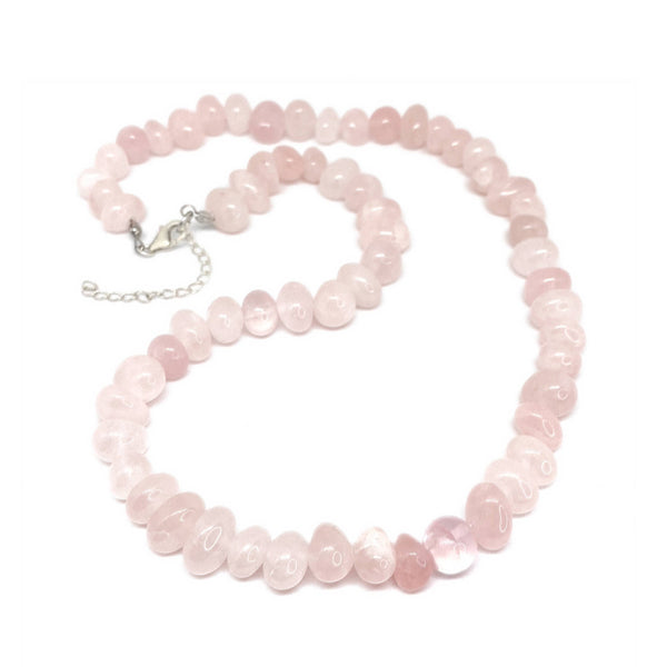 Rose Quartz Bead </BR>Necklace