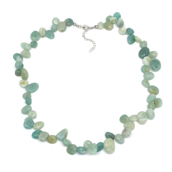 Amazonite Pear Bead </BR>Necklace