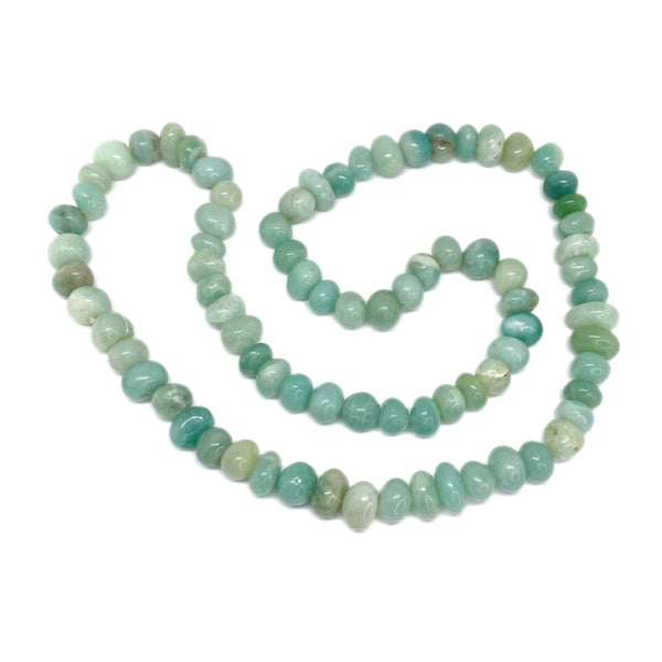 Amazonite Round Bead </BR>Rope Necklace
