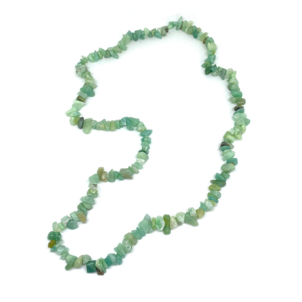 Amazonite Chip </BR>Rope Necklace