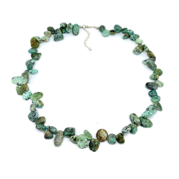 Turquoise Pear Bead</BR>Necklace