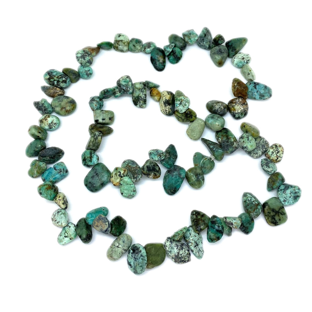Turquoise Pear Bead</BR>Rope Necklace