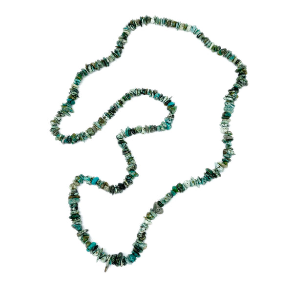 Turquoise Chip </BR>Rope Necklace