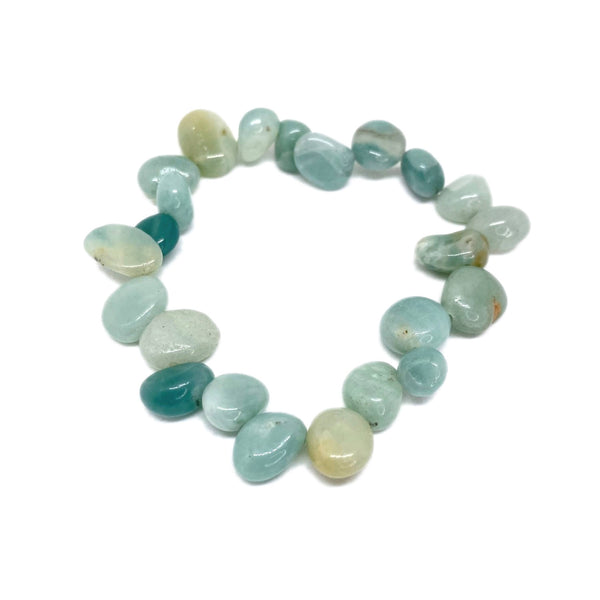 Amazonite Pear Bead<br/>Elasticated Bracelet