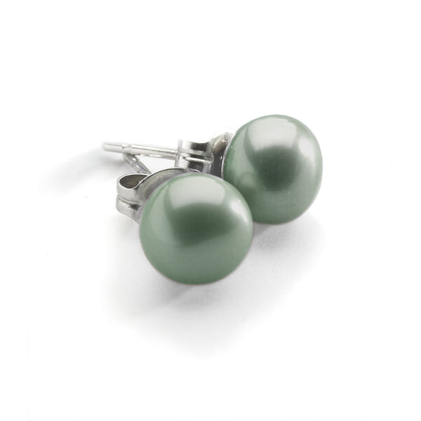 Mink Pearl Stud <BR/>Earrings