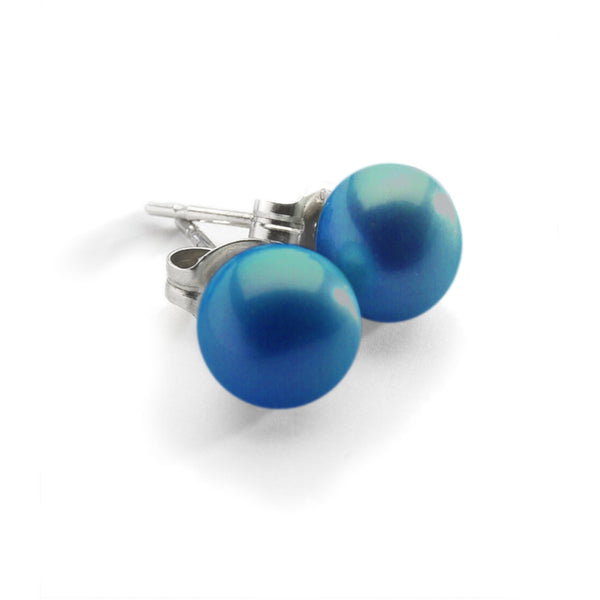 Blue Pearl Stud<BR/> Earrings