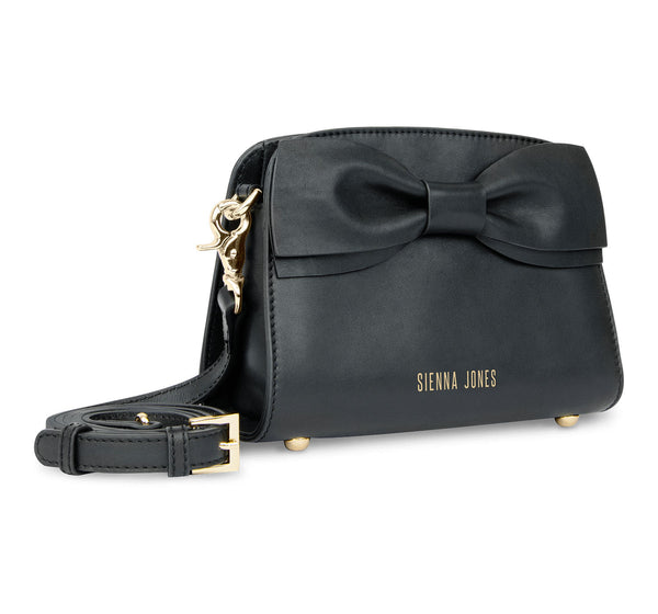 The Mini Marina Bow <BR/>Black Handbag