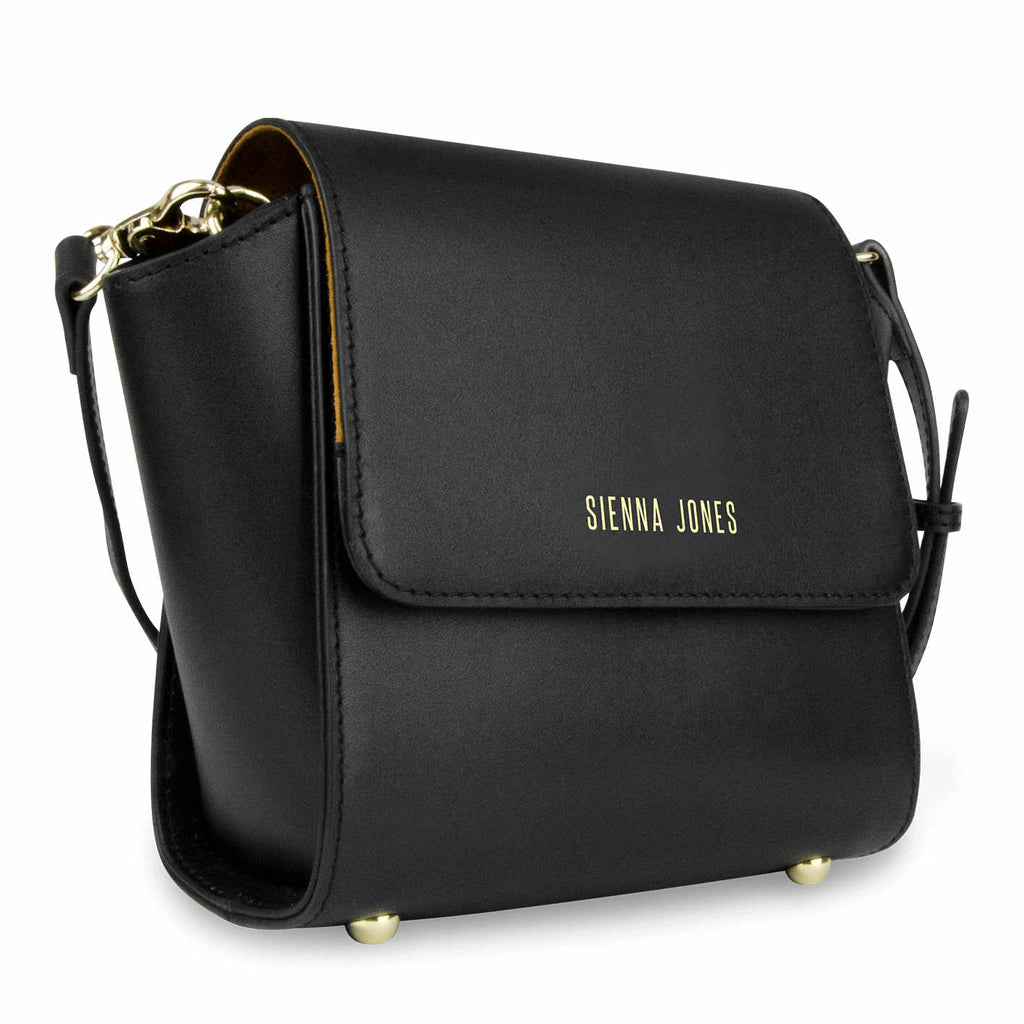 Mini Classic Leather <BR/>Black Handbag