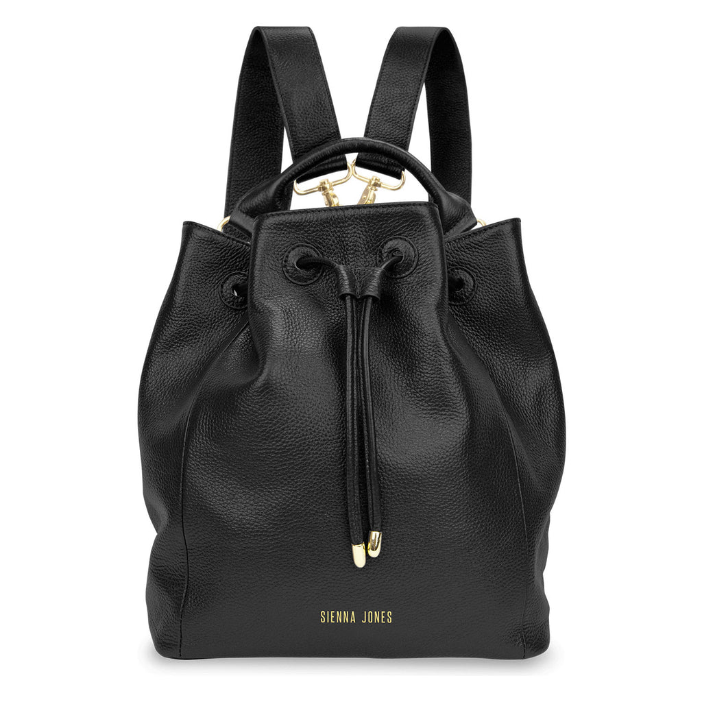 Primrose Hill<BR/> Black Bucket Bag