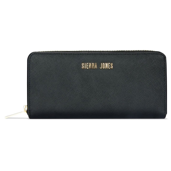 Zip Around Purse - Black