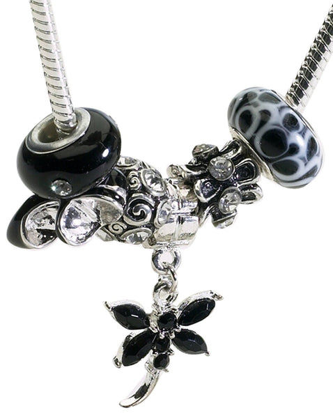 Black and White Charm Necklace