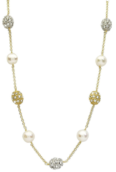 Pearl and Gem Ball Necklace