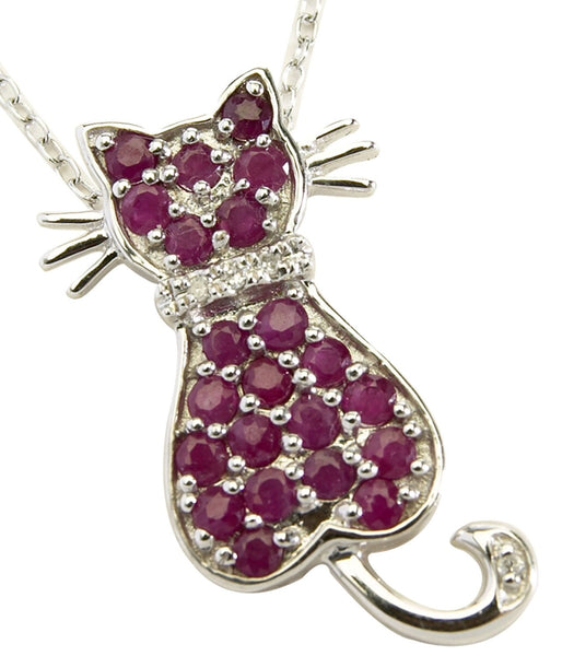 Ruby Cat Pendant
