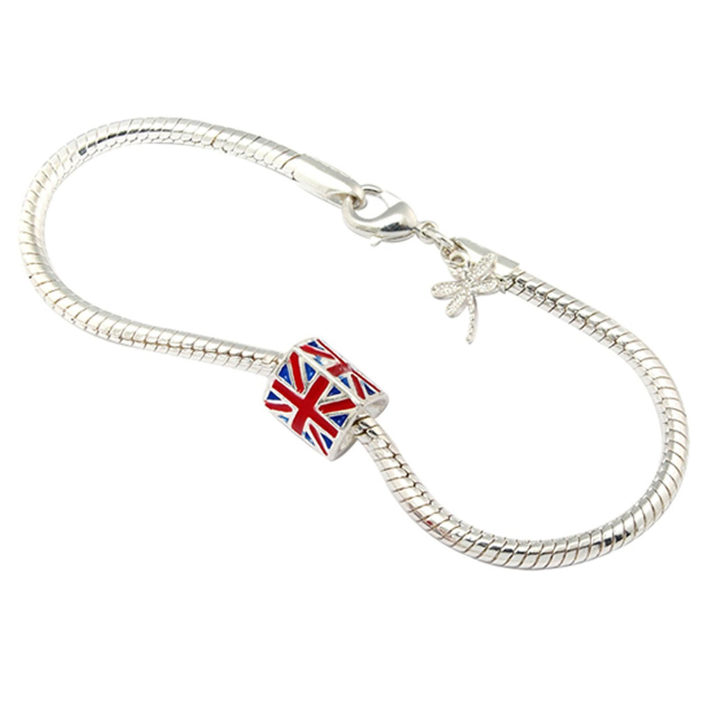 Union Jack Charm <BR/>Necklace and<BR/> Bracelet Set