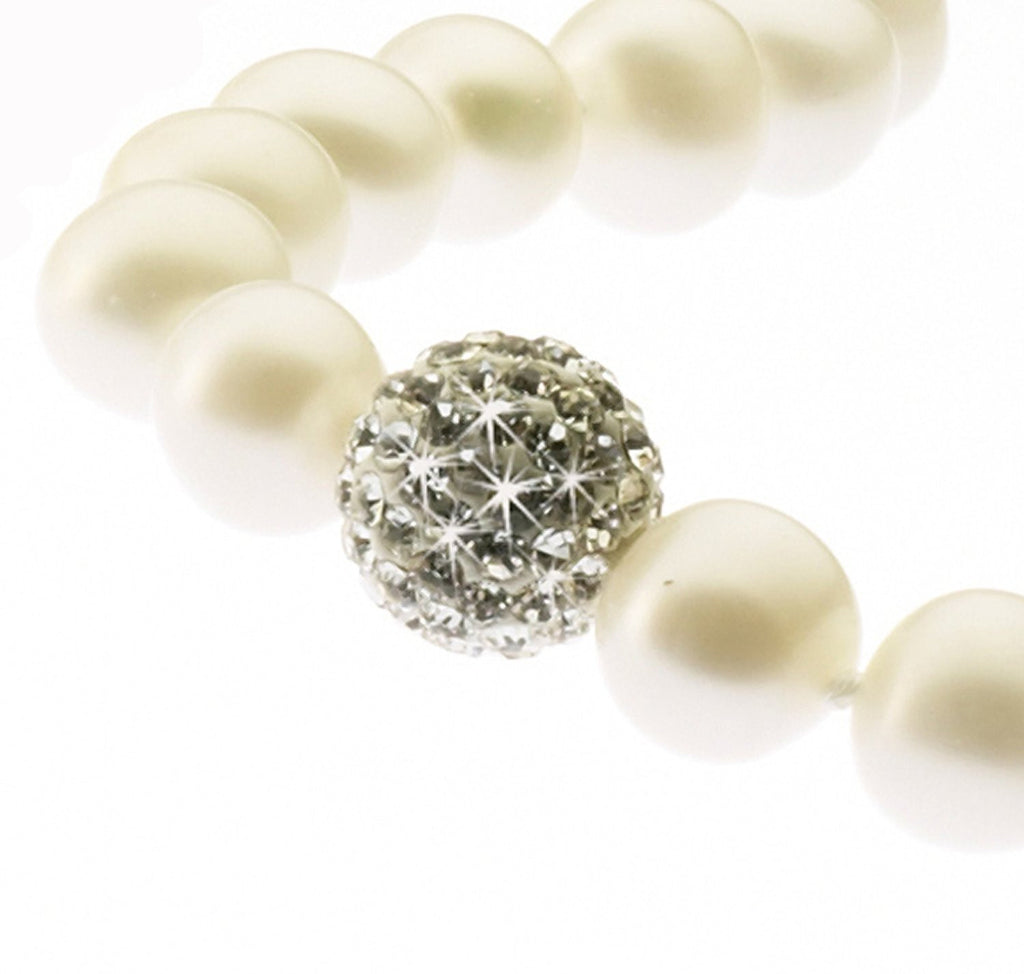 Pearl and Crystal<BR/> Bead Necklace
