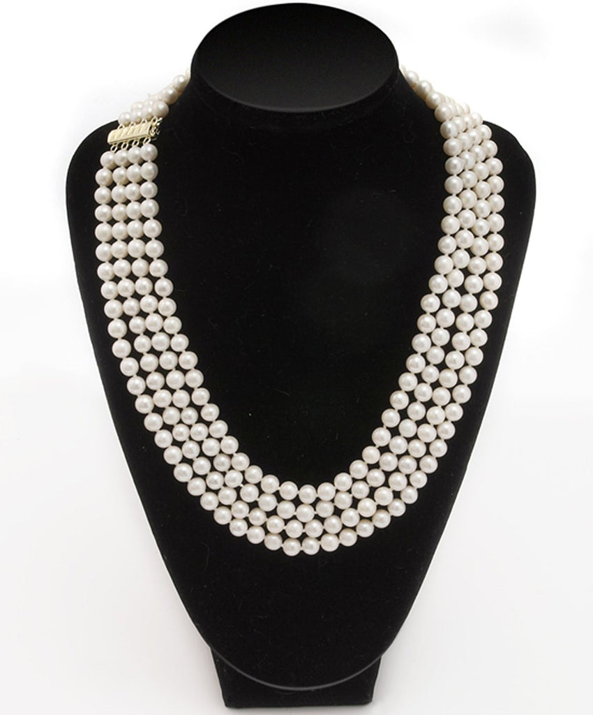 4 Row Imperial Pearl <BR/> Necklace