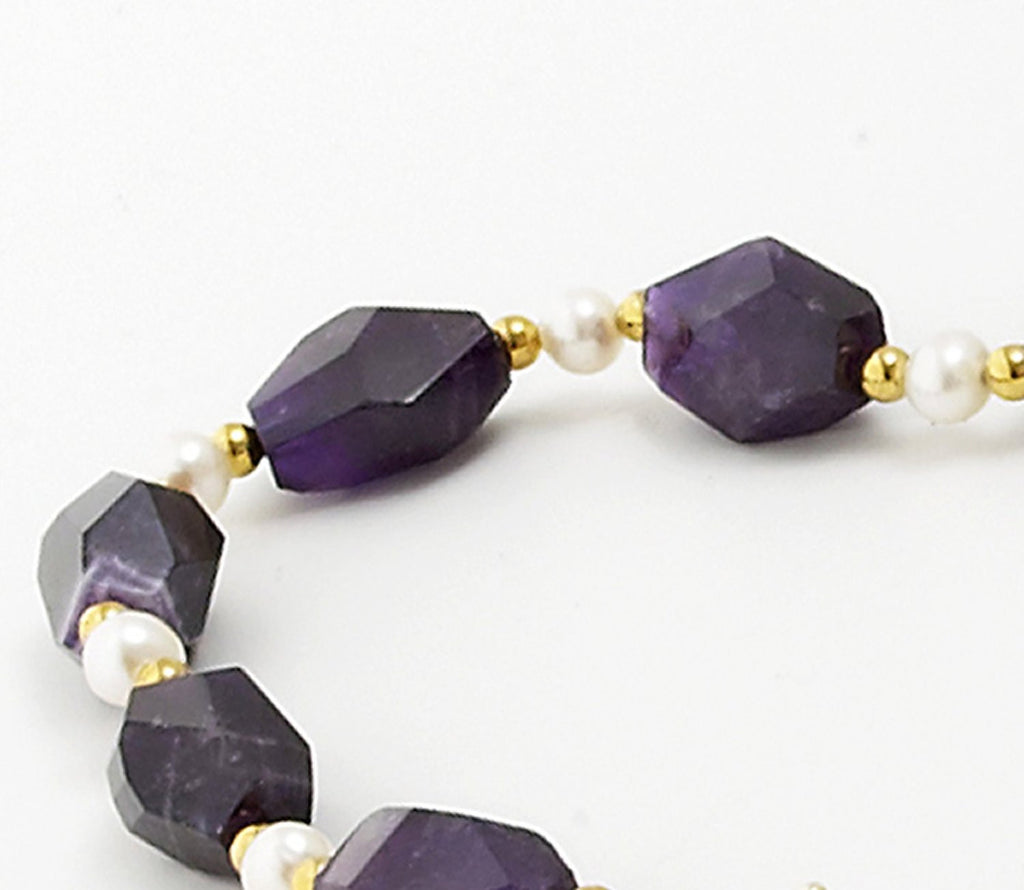 Amethyst Pearl <BR/>Necklace