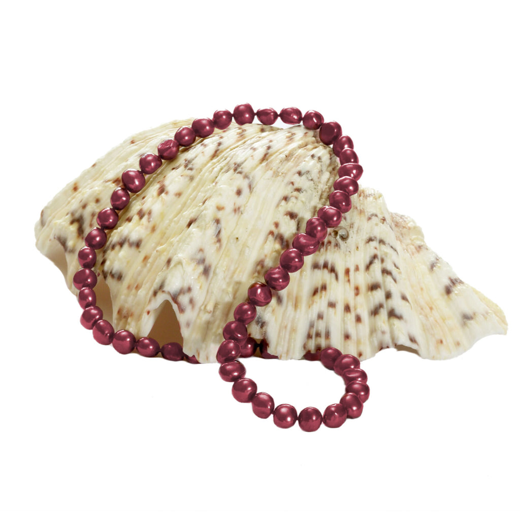 Cranberry Pearl <BR/>Necklace