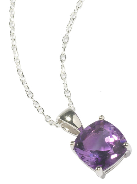 Amethyst Square Cut Necklace