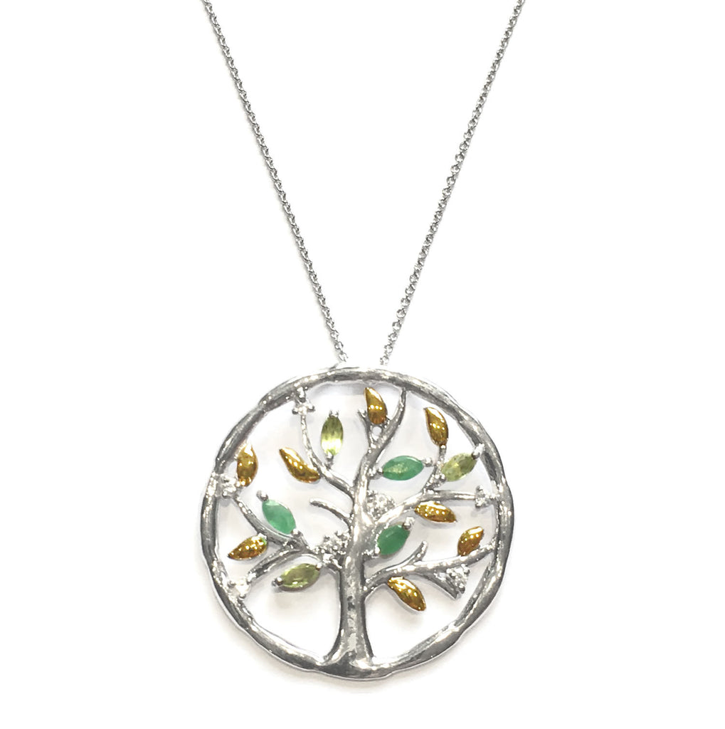 Emerald Tree of Life Pendant