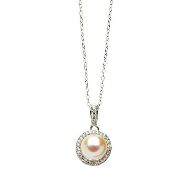 White Pearl and <br/>Silver Pendant