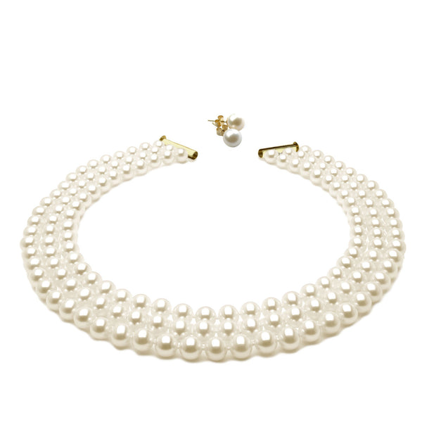 Imperial Pearl <BR/>Necklace and Pearl<BR/> Earrings Set