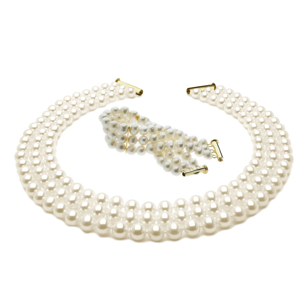 Imperial Pearl <BR/>Necklace and <BR/>Bracelet Set