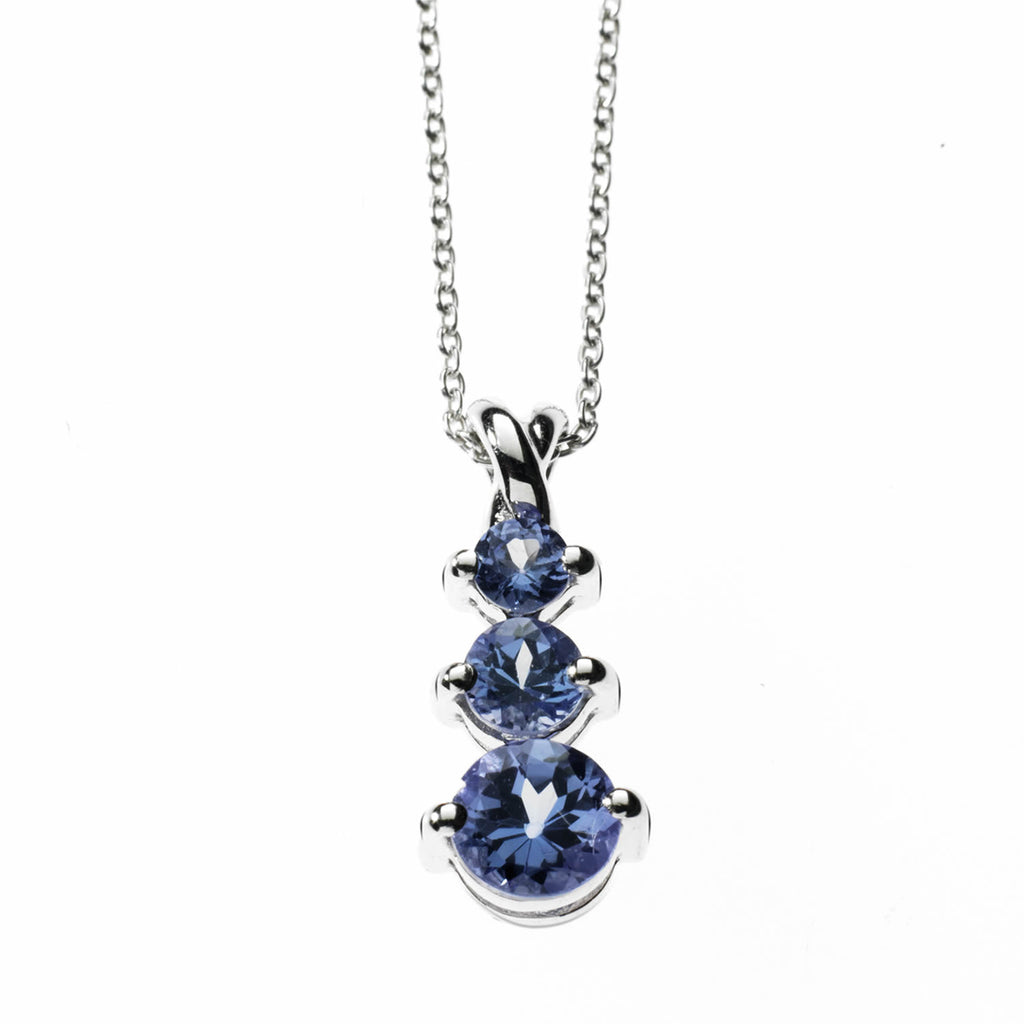 Anderson & Webb Tanzanite and Diamond Cat Pendant Necklace with Silver Plated Ball Earrings rlXTgDoH6s