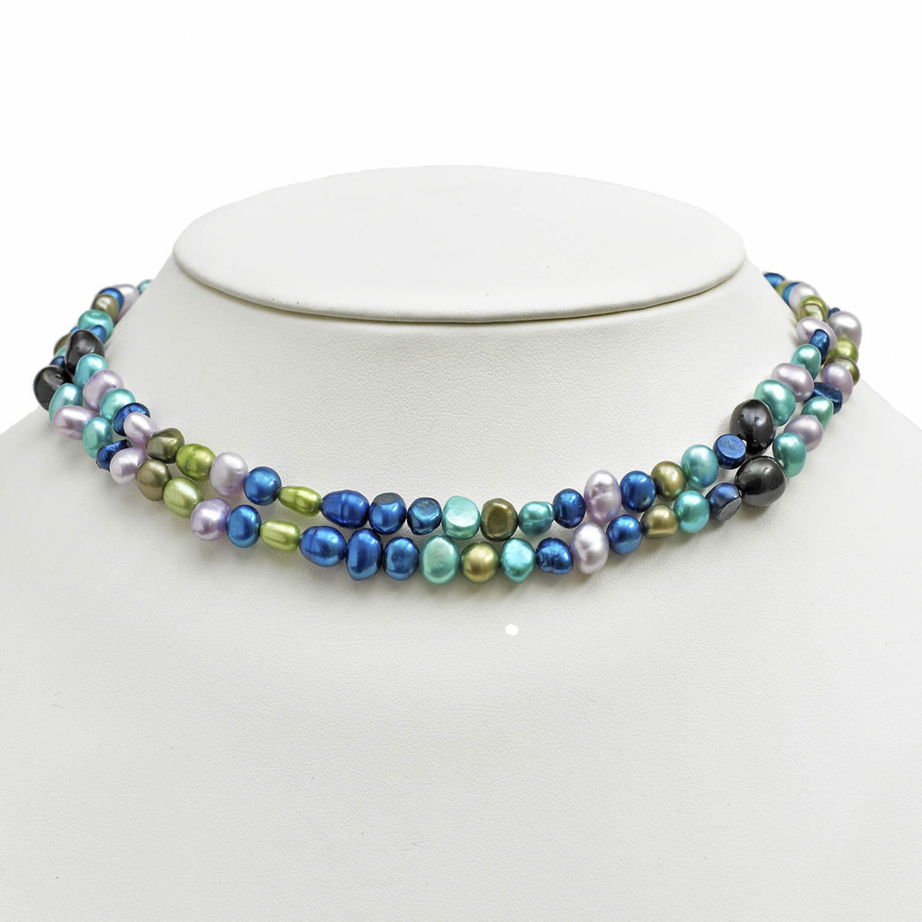 Two Row Freshwater <BR/>Cultured Pearl <BR/>Necklace