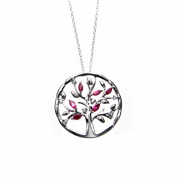 Ruby Tree of Life <BR/>Pendant