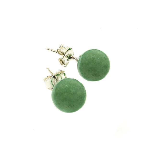 Aventurine Stud <BR/>Earrings