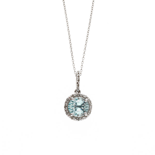 Diamond and Topaz <BR/>Pendant