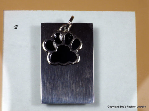 Black Color Paw Print Pet Tag - Bestwire Jewelry