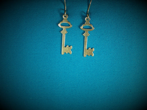 14kt Gold Filled Key Earrings - Bestwire Jewelry