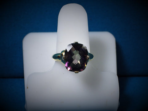 10 kt Gold Mystic Fire Topaz Ring - Bestwire Jewelry