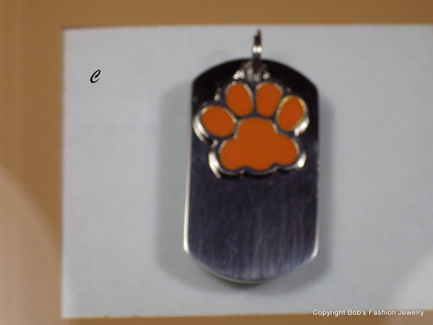 Orange Paw Print Pet Tag - Bestwire Jewelry