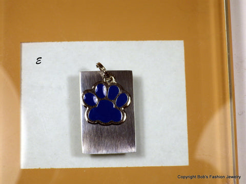Blue Paw Print Pet Tag - Bestwire Jewelry