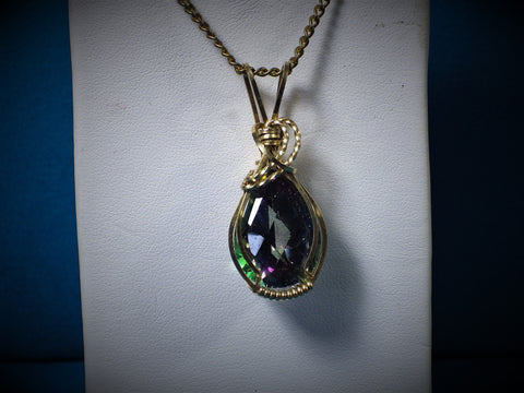 14 kt Gold Filled Mystic Fire Topaz Pendant - Bestwire Jewelry