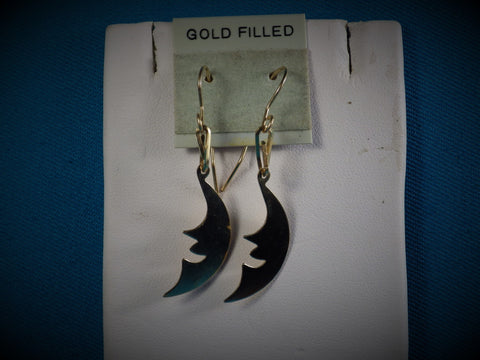 14kt Gold Filled Smiling Moon Earrings - Bestwire Jewelry