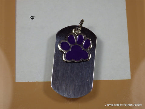 Purple Paw Print Pet Tag - Bestwire Jewelry