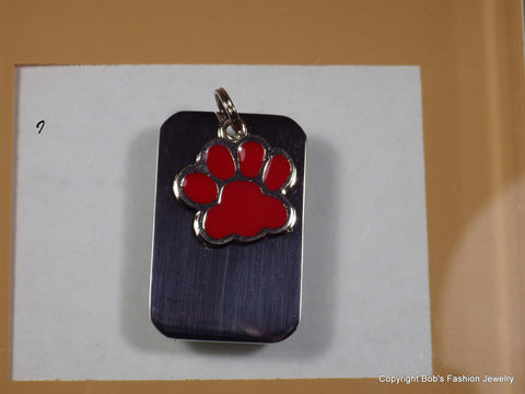 Red Paw Print Pet Tag - Bestwire Jewelry