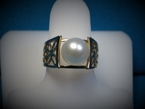 Cultured Pearl Filigree Ring - Bestwire Jewelry