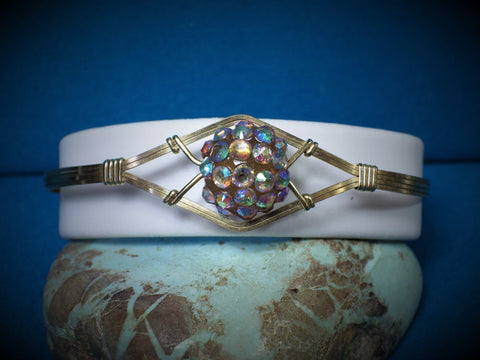 14 kt Gold Filled & Swarovski Crystal Bead Wire Bracelet - Bestwire Jewelry