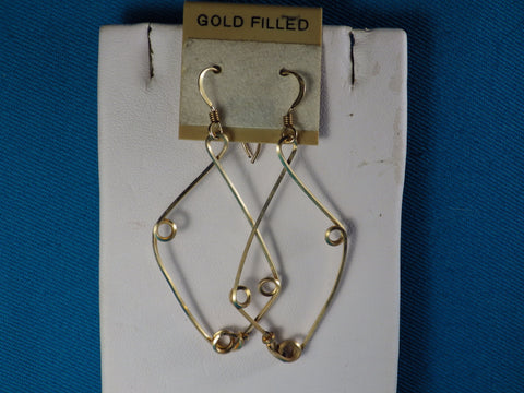 14kt Gold Filled Safety Pin Earrings - Bestwire Jewelry