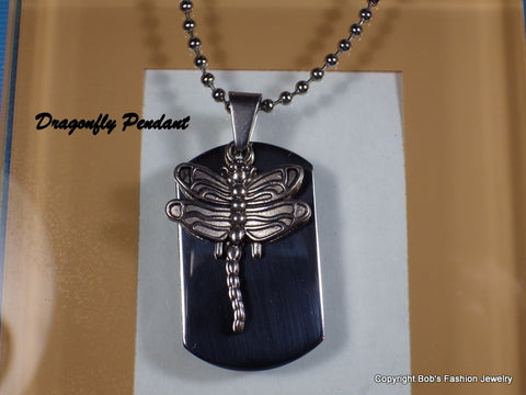 Antiqued Silver Tone Dragonfly Charm Necklace - Bestwire Jewelry