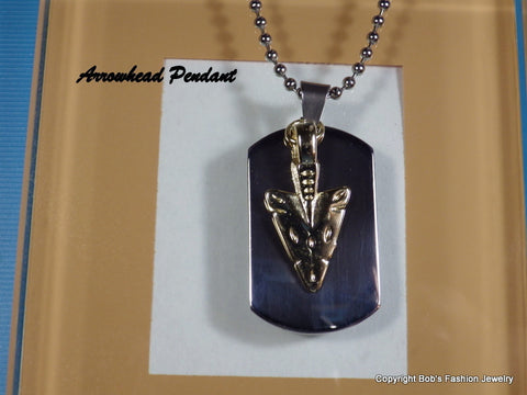 14k Gold Layered Arrowhead Charm Necklace - Bestwire Jewelry