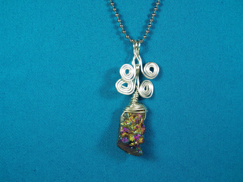 AB Coated Quartz Pendant - Bestwire Jewelry