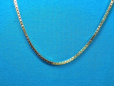 18k Gold Layered 2mm Box Necklace - Bestwire Jewelry