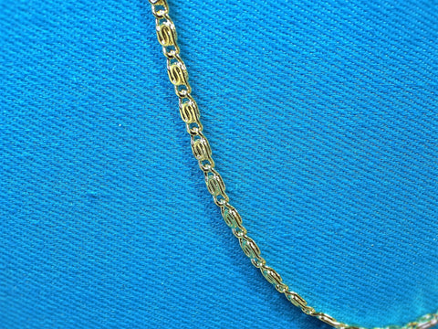 18k Gold Layered 2mm Scroll Necklace - Bestwire Jewelry