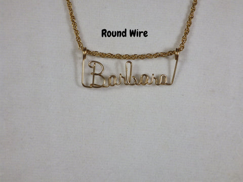 14k Gold Filled Wire Name Necklaces - Bestwire Jewelry